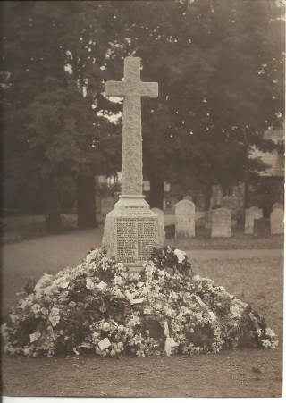The War Memorial in St Mary's Churchyard was dedicated on 21st June 1921