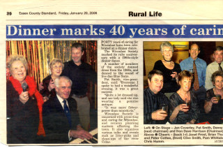 In January 2006 Wivenhoe Society Members enjoyed a dinner dance to mark its ruby anniversary. | ECS 20 January 2006