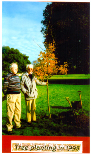 Nick Butler, Secretary of Wivenhoe Society with Philip Baines, the Wivenhoe Society's 'tree expert' in 1998