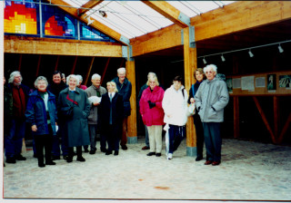 Wivenhoe Society members on an outing including Peggy Goodwin, Frances Richards, Andrew and Sue Murray and Phil Baines.