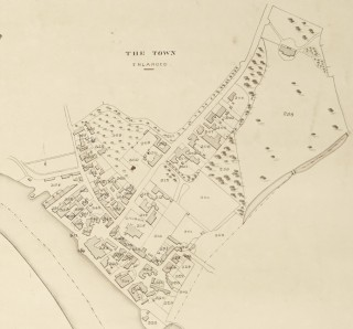 An extract from the 1838 map of Wivenhoe showing just where the houses in Lower Wivenhoe were in those days. It also shows the location of Wivenhoe House and part of William Brummell's estate on the eastern side of Wivenhoe.
