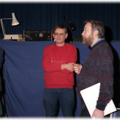 Wivenhoe Pantomime David Sleightholm and John Foster and another   Photo Mike Downes