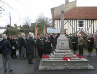Crowd at the Service of Re-dedication holding a cheque aloft   | Wivenhoe Encyclopedia