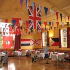 The William Loveless Hall decorated with flags | Photo Peter Hill