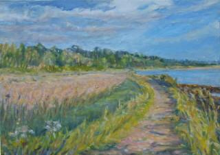 On the River Wall (Colne) | Gisela Langsdorff