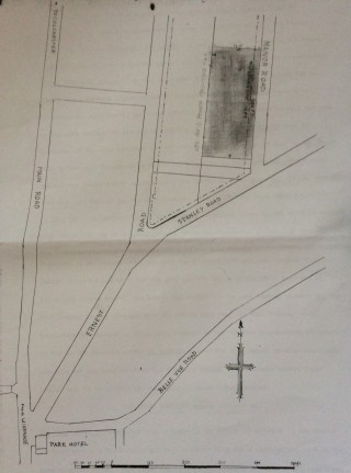 Manor Road Conveyance 8 May 1900 | Plan attached to deed