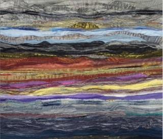 Snowdonia Sunset/Textile | Annie Bielecka