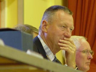 Cllr Robert Neeedham (foregound) and Borough Cllr Cyril Liddy | Jason Cobb