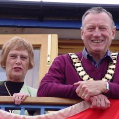 Wivenhoe Town Mayor Cllr Bob Needham with Mayoress Audrey Crosby enjoying the 2011 Regatta   Jason Cobb