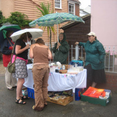 The wet weather didn't seem to stop stall-holders and visitors from enjoying the event | Photo Peter Hill