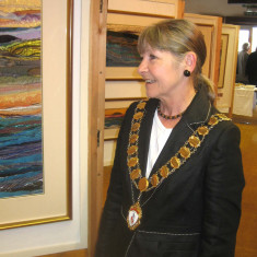 The Town Mayor of Wivenhoe, Cllr Frances Richards, attending the Nottage Art Exhibition and the Regatta  | Photo Peter Hill