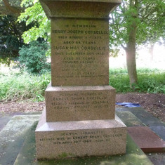 One side of the Corsellis family monument | Photo by Peter Hill