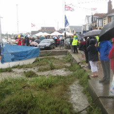 Wiv Regatta Quay. showing quite a lot of people turned out  despite the poor weather  | Photo Peter Hill