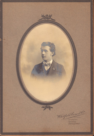 Tom Turner as a young hairdresser | Photo from Pauline Harrison, a relation of Tom