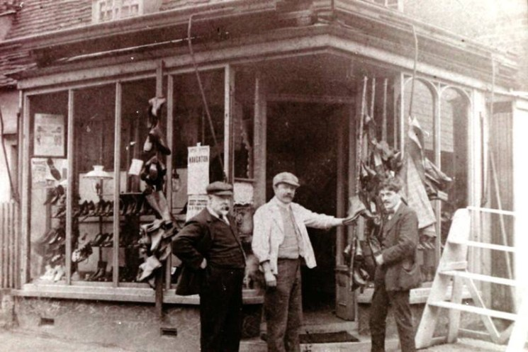 Philip Chamberlain's Boot and Shoe Shop in the High Street | Wivenhoe Memories Collection