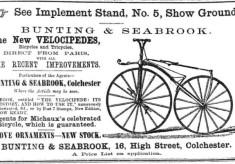 The New Velocipedes 1869