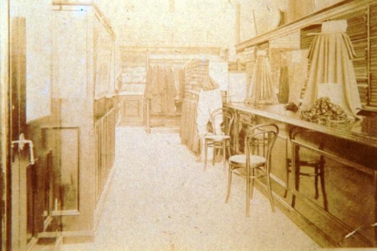 Interior of Arthur Garrett's Draper's shop circa 1881-1914 | Wivenhoe Memories Collection