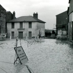 High water Cooks Yard | Wivenhoe Memories Collection