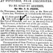 Advert for a Bakery 13 August 1834