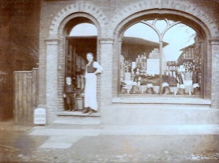 Jimmy Moore's grocery shop in the High Street.   Wivenhoe Memories Collection