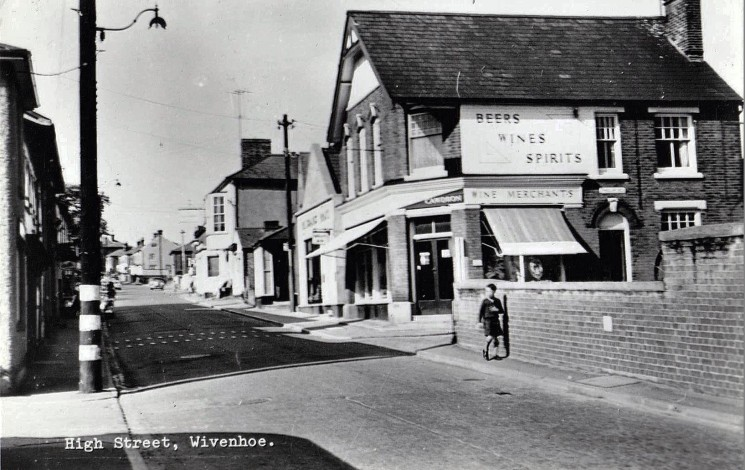Peatling and Cawdron off-licence on the corner of High Street and Phillip Road | Wivenhoe Memories Collection
