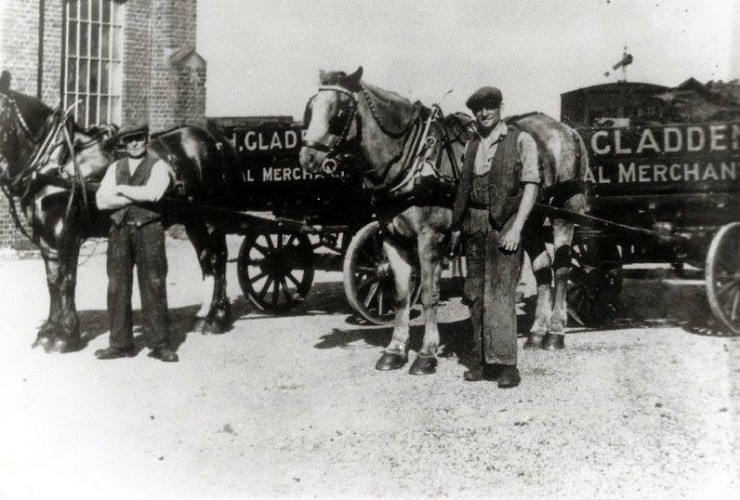 Harry Gladden, coal merchant, outside the old Goods Shed at the Station | Wivenhoe Memories Collection
