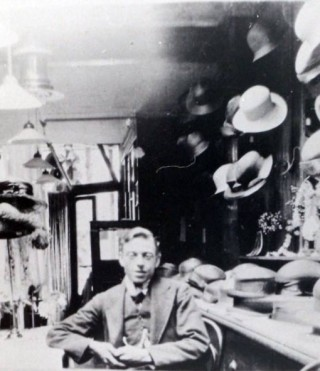 Arthur Garrett in his Draper's shop | Wivenhoe Memories Collection