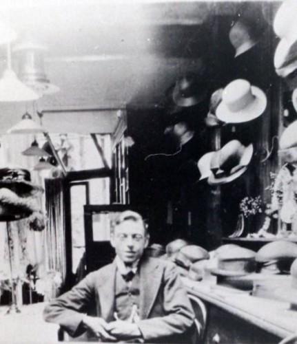 Arthur Garrett in his Draper's shop | Wivenhoe Memories Collection