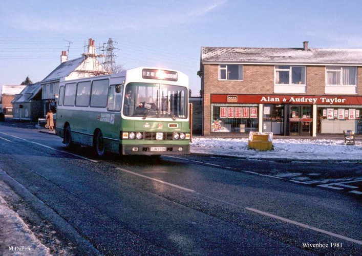 Eastern National Bus No 74 at the Vine Drive stop on the way to Clacton.   | Photo taken by Mark Dufton