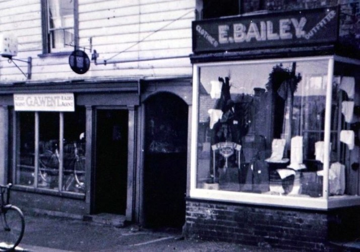 Mrs E. Bailey's Outfitters next door to George Went's Cycle and Radio Agent Shop (now the Wivenhoe Bookshop) | Wivenhoe Memories Collection