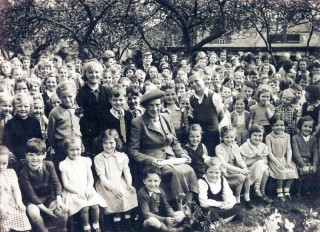 Mrs Smith's retirement party at the Phillip Road School 29 April 1955 | Wivenhoe Memories Collection