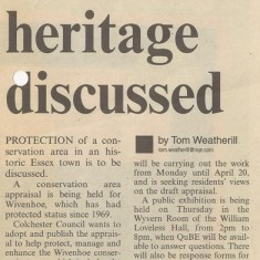 Wivenhoe Conservation Area Appraisal, March 2007 | Essex County Standard, 23 March 2007