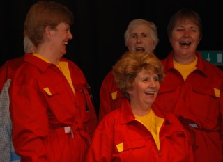Car factory workers - Maureen Pettit, Lyn Button, Janet Turner and Eve Dean