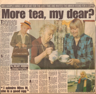 The Daily Mirror interviewed Joan Hickson in December 1992  | Daily Mirror via Wivenhoe Memories Collection
