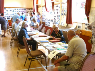 Visitors enjoying reading about Wivenhoe | Peter Hill