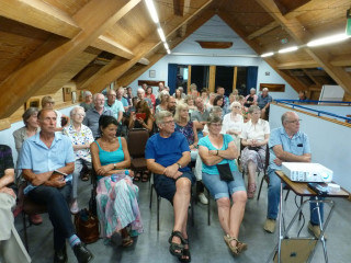 This meeting's talk proved popular with just over 50 people coming to it. | Photo Peter Hill