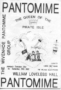 Pantomime Programme Cover for