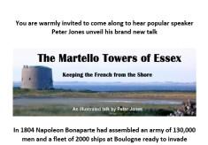 WHG Public Lecture - Martello Towers of Essex