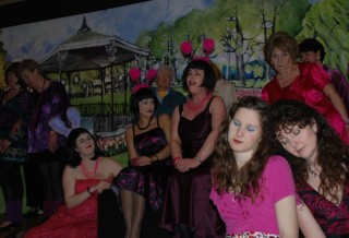 Jan Thurlow, Emily Baker, Fiona Morris, Zoe Mayhew and others in the scene:  Braid the Raven Hair