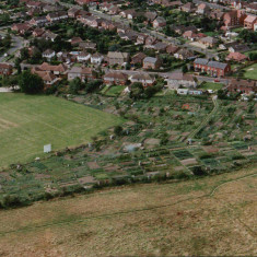 Aerial view of the Allotments in about 2004 | Picture taken by Johnathon Grose