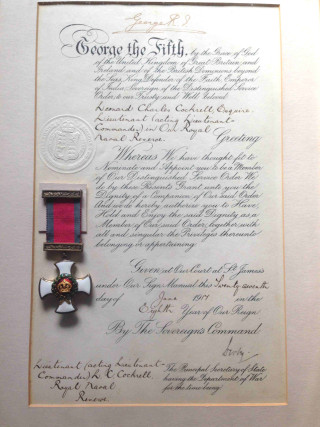The DSO awarded to Lieutenant Commander Leonard Cockrell in 1917   | Picture provided by Colin Fincham