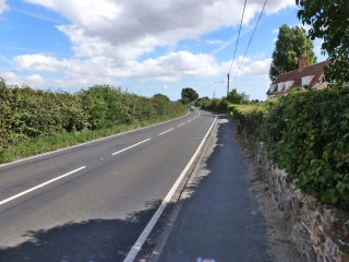 Part way along Colchester Road looking towards Wivenhoe | Photo by Peter Hill