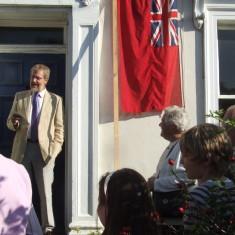 Albert Turner Plaque unveiling 14th October 2007,  Richard Barnard | Photo Mike Downes