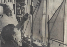 Fred Downing's model Thames Sailing Barge