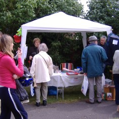 QRRA Stall at Art on the Railings and the June Market, June 2009 | QRRA