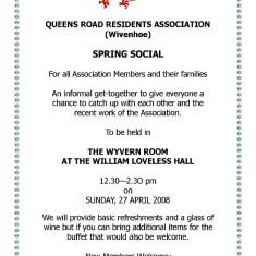 QRRA Spring Social, April 2008 | QRRA