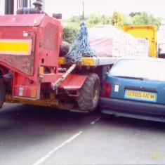 Campaigned to stop plant machinery damaging cars on Queens Road as in this photo of July 2006 | QRRA