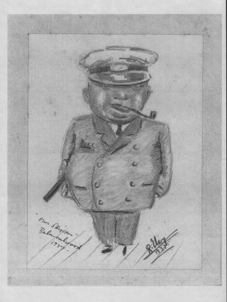 A drawing of Leonard Cockrell done in 1937  | Loaned by Colin Fincham
