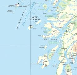 Map of West Coast of Scotland