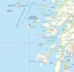 Map of West Coast of Scotland